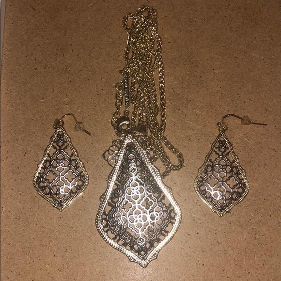 Kendra Scott Filigree Gold & Silver set